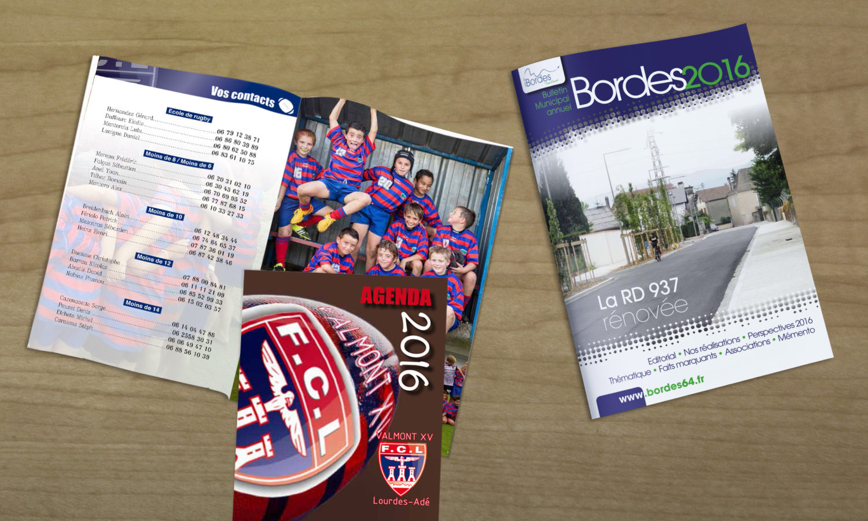 Création Bulletin Municipal Brochure Club