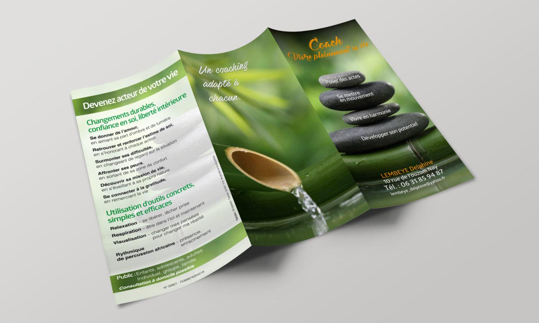 création impression Brochure dépliant commercial
