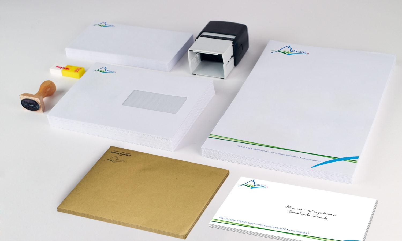 PAPETERIE Papier entête lettre enveloppes