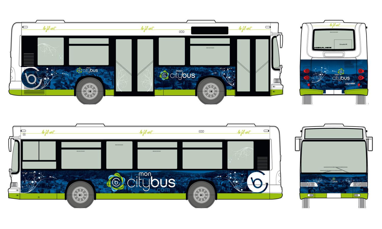 Habillage véhicule Bus car ville