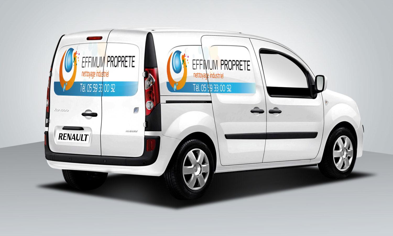 Habillage véhicule voiture utilitaire entreprise